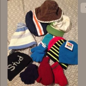 Other - Lot boys hats beanies gloves mittens